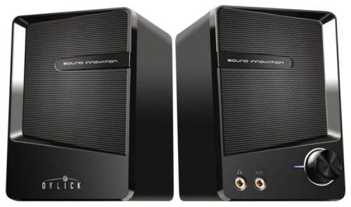 Компьютерная акустика 2.0 Oklick OK-126 черный, 6 Вт