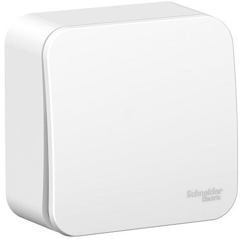 Выключатель Schneider Electric BLNVA061011 1-клавишный 6А, 250В, изолир. пластина (белый) наруж переходник старт 6а 250в стакан белый