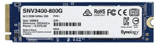 Фото - Накопитель SSD M.2 2280 Synology SNV3400-800G 800GB NVMe PCIe 3.0 x4 3100/1000MB/s IOPS 375K/70K внутренний ssd накопитель 4096gb corsair force mp600 core cssd f4000gbmp600cor m 2 2280 pcie nvme 4 0 x4
