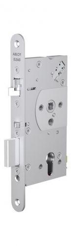 Замок Abloy EL560 эл-мех соленоидный, для сплошных дверей, выход с управлением от ручки, режимы НО/НЗ, 12-24VDC, 0,4Amax, (сторонность 3)