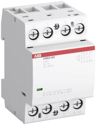 Контактор модульный ABB 1SAE351111R0640 ESB63-40N-06 модульный (63А АС-1, 4НО), катушка 230В AC/DC