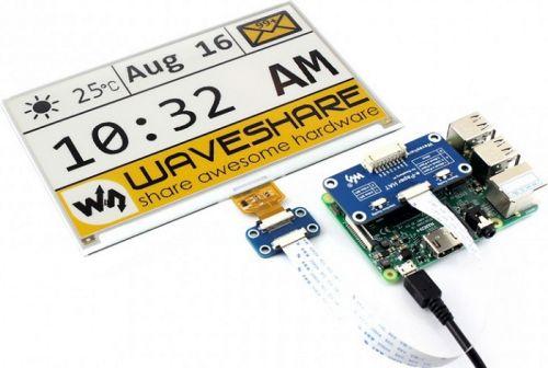 Дисплей Waveshare 7.5inch e-Paper HAT [C] разрешение 640×384, для Raspberry Pi, трехцветный (желтый, черный, белый)