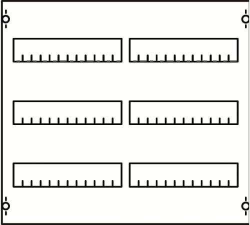 Панель ABB 2V00A под установку мод. устройств 2ряд/3рейки h==450