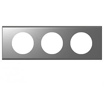 Рамка Legrand 69103 Celiane 3-ая (2+2+2 мод) (сталь фактурная)