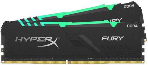Модуль памяти DDR4 32GB (2*16GB) HyperX HX424C15FB3AK2/32 2400MHz CL15 D Fury RGB