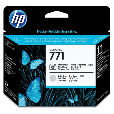 Картридж HP CE020A №771 Печатающая головка для DesignJet Z6200, черная фото и светло-серая