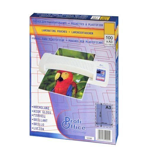 Пленка ProfiOffice 19019 для ламинирования, глянцевая А3, 303х426 мм. 175 мкм. 100 шт. пленка для ламинирования office kit 75 мик а3 100 шт глянцевая 303х426 plp10030