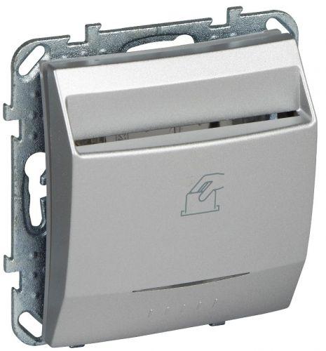 Выключатель Schneider Electric MGU5.283.30ZD Unica Top карточный, алюминий