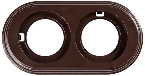 Рамка Bironi BF1-620-22 пластик, коричневый, 2-я рамка bironi bf2 630 02 коричневый фарфор 3 я