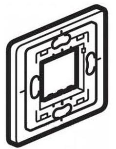 Фото - Суппорт Legrand 80270 1-местный для внешнего монтажа суппорт legrand 653178 для монтажа механизмов эуи 2 3 модуля