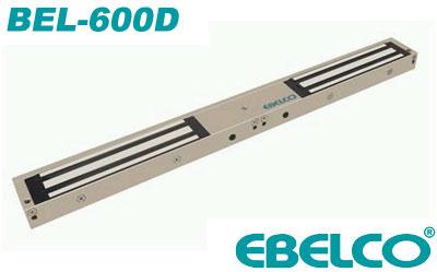 Замок EBELCO BEL-600D сила удержания 600кг, сдвоенный для распашных дверей и гаражей, 12В/24В, 480мА/240мА
