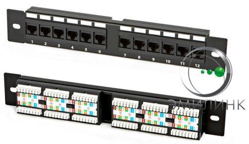 Патч-панель NTSS NTSS-PP-W-12-UTP-RJ45-5e-110 UTP, 12 портов RJ45, cat.5е, 110 тип (настенная)