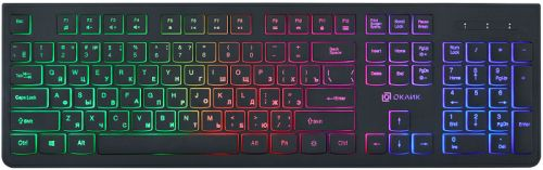 Фото - Клавиатура Oklick 440ML KW-1820B черный USB slim LED клавиатура oklick 505m белый usb slim