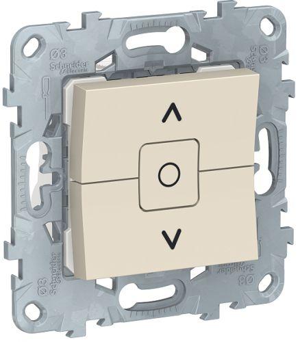Фото - Выключатель Schneider Electric NU520844 UnicaNew, беж, для жалюзи, 2-клавишный, сх. 4 выключатель schneider electric nu520118 unicanew белый 1 клавишный сх 1 10 ax 250в