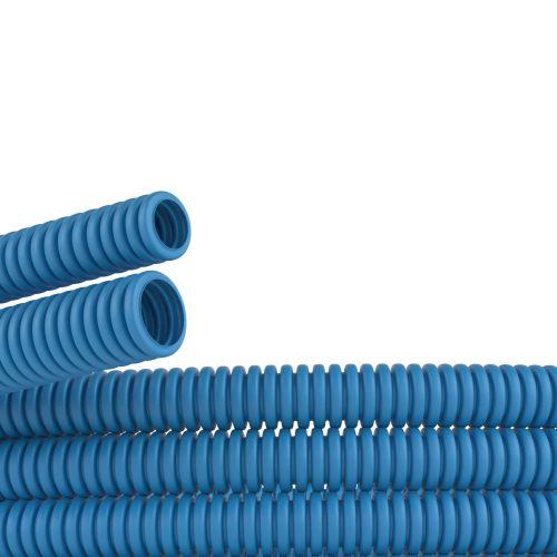 Труба гофрированная DKC 10916 ППЛ d16мм, гибкая, лёгкая, без протяжки, цвет синий,