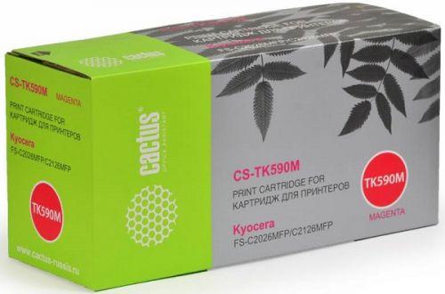 Тонер-картридж Cactus CS-TK590M пурпурный для Kyocera FS-C2026MFP/C2126MFP/C2526MFP/C2626MFP/C5250DN