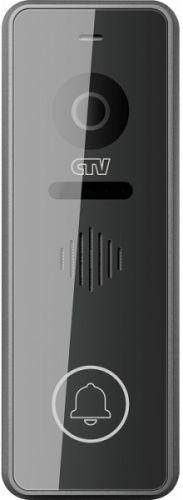Вызывная панель CTV CTV-D3001 сен. упр., 2 передних декор. накладки в комплекте, 1000 твл, 120°, монт. уголок в комплекте, графит