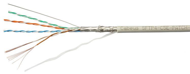 Cabeus SFTP-4P-Cat.5e-PATCH-GY