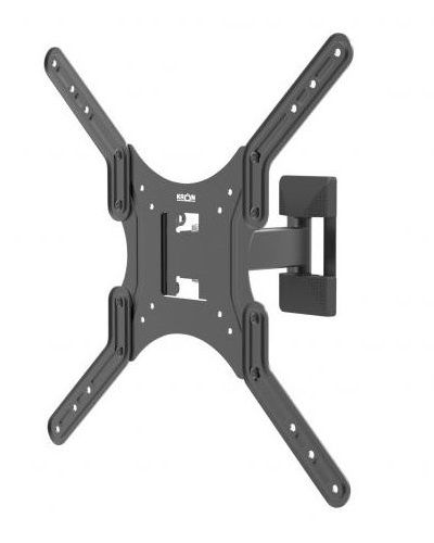 Фото - Кронштейн настенный ONKRON M2 26-55 макс. 400*400, 1 колено, наклон -2+12º, поворот 80º макс. 35кг, от стены 40-210мм, черный кронштейн настенный onkron ut4 40 85 наклон 0° 15° до 75кг черный