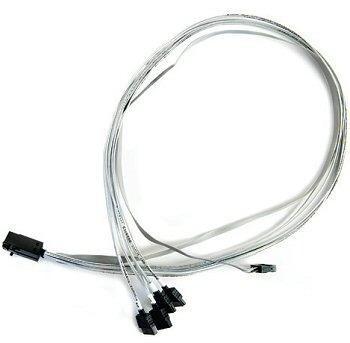 Кабель интерфейсный SAS Adaptec 2279800-R ACK-I-HDmSAS-4SATA-SB-0.8M внутр., 80см., разъемы SFF8643 -to- 4*SATA+SideBand