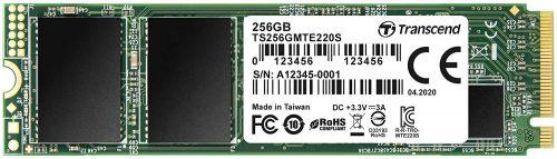 Фото - Накопитель SSD M.2 2280 Transcend TS256GMTE220S 220S 256GB NVMe PCIe Gen3 x4 3D TLC 3300/1250MB/s IOPS 190K/300K MTBF 2M накопитель ssd transcend 256gb ts256gmts400s