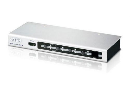 Переключатель KVM Aten VS481A-AT-G HDMI, 4> 1 телевизор/панель, шнур HDMI 1.8м, (1600x1200 60Hz;480P/720P/1080i/1080P;HDMI 1.2/HDCP;пульт ДУ),