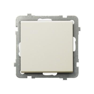 Выключатель Ospel LP-1R/m/27 однополюсный, 16AX, 250V, 3520W, IP-20, клеммы безвинтовые, экрю