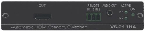 Коммутатор Kramer VS-211HA 70-80211190 2х1 HDMI с автоматическим переключением, коммутация по наличию сигнала, поддержка ARC