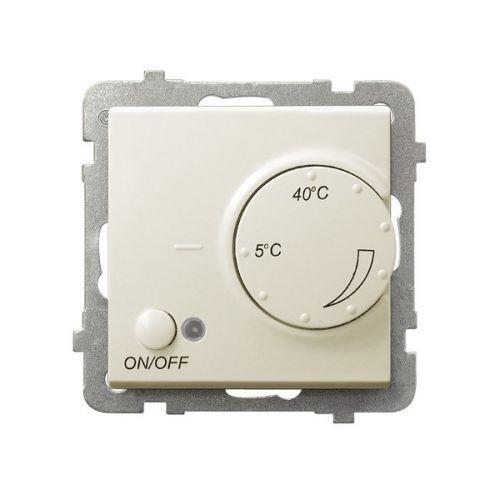 Терморегулятор Ospel RTP-1R/m/27 с датчиком температуры пола, 230V, клеммы винтовые, экрю