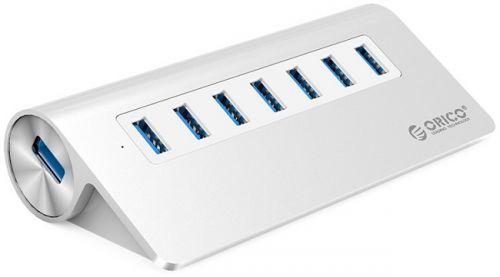Концентратор USB 3.0 Orico M3H7-SV 7хUSB 3.0, серебристый
