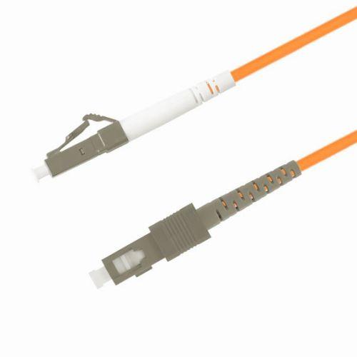 Кабель патч-корд волоконно-оптический TELCORD ШОС-3.0-LC/P-SC/P-MM50-2.0м-LSZH-OR  - купить со скидкой
