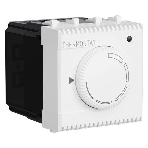Термостат DKC 4400162 модульный для теплых полов, белое облако, 2 модуля,