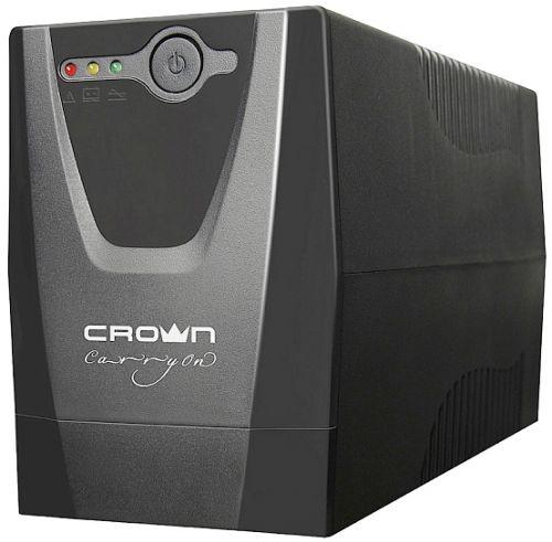 Источник бесперебойного питания Crown CMU-650XIEC CM000001507 line-interactive, 600VA/300W, 3хIEC-320, 12V/7AH х 1, пластик (CMU-650XIEC - CM000001507)