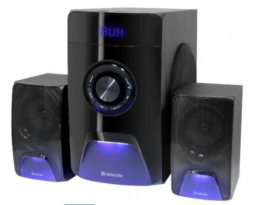 Компьютерная акустика 2.1 Defender X500 65526 чёрный, 2.1 ,50W, Bluetooth, FM/MP3/SD/USB, ДУ