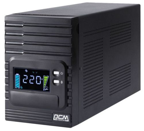 Источник бесперебойного питания Powercom SPT-2000-II-LCD SMART KING PRO+, Интерактивная, 2000 ВА / 1600 Вт, Tower, IEC, LCD, Serial+USB, USB, SmartSlo источник бесперебойного питания powercom kin 1500ap lcd king pro rm line interactive 1500va 1200w rack mount 2u iec serial usb smartslot lcd b