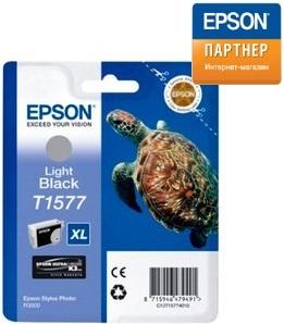 Картридж Epson C13T15774010 для принтера Stylus Photo R3000 светло-чёрный
