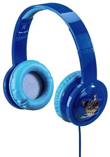 Наушники HAMA 00135663 Blink`n Kids, мониторные, 1.2м голубой, проводные, оголовье