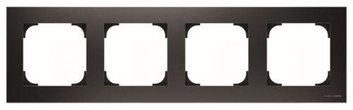 Рамка ABB 2CLA857400A1501 4-постовая, чёрный бархат рамка abb 4 постовая zenit антрацит