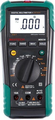 Мультиметр Mastech 13-1223 трассоискатель профессиональный MS8236