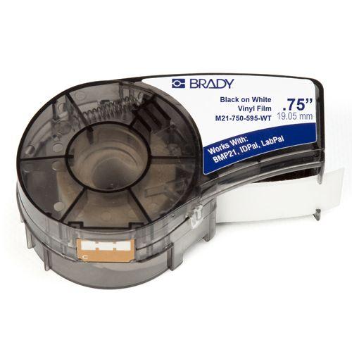 Лента красящая Brady M21-750-595-WT brd142797 19.05mm/6.4m винил, черный на белом недорого
