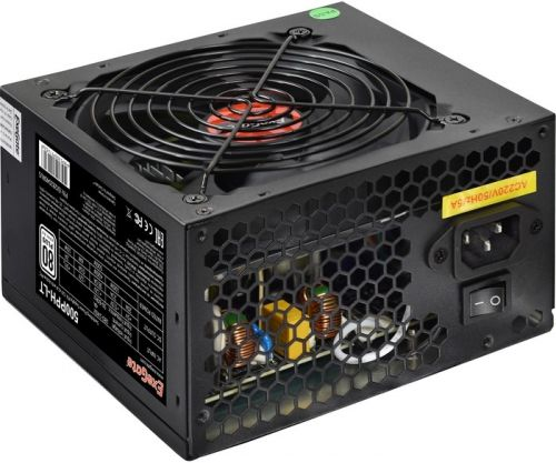 Фото - Блок питания ATX Exegate 500PPH-LT 500W,APFC,120mmfan,80Plus Standart, кабель 220V с защитой от выдергивания выключатель сенсорный с контактным проводом 220v 500w pm218ws 220v