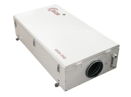 Приточная установка Salda VEGA 700 E 900 м³ в час, суперкомпактная с интегрированной автоматикой (пульт управления - опция)