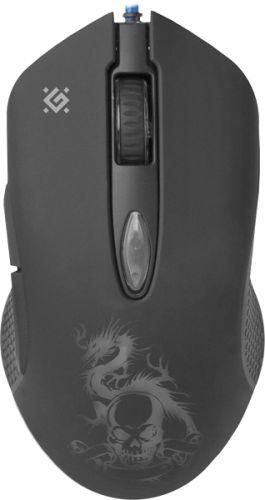 Фото - Мышь Defender Sky Dragon GM-090L 52090 800-3200dpi, 6 кнопок мышь defender witcher gm 990 52990 rgb 7кнопок 3200dpi
