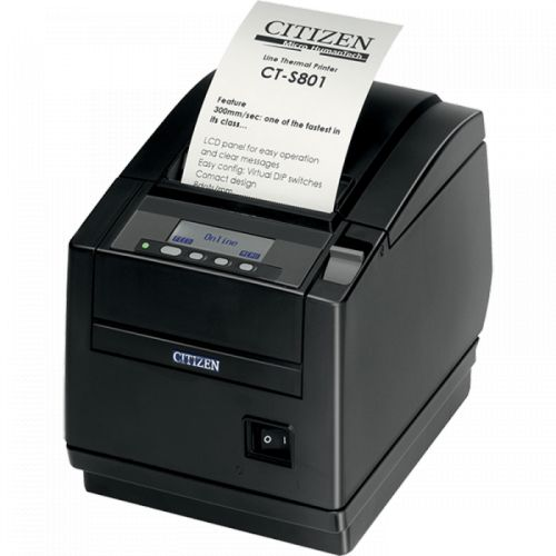 Термопринтер Citizen CTS801IIS3NEBPXX Чековый термопринтер CT-S801II; No interface, Black