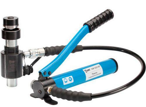 Инструмент КВТ 53137 пресс гидравлический помповый для пробивки отверстий ПГПО-60