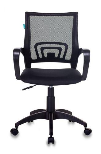 Фото - Кресло Бюрократ CH-695NLT цвет черный TW-01, сиденье черное TW-11 сетка/ткань крестовина пластик кресло бюрократ ch 605 черное искусственная кожа крестовина металл