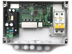 Коммутатор TFortis PSW-1-45 Wi-Fi (медь+WiFi) уличный неуправляемый для подключения 4 камер