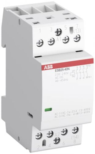 Контактор модульный ABB 1SAE231111R0140 ESB25-40N-01 модульный (25А АС-1, 4НО), катушка 24В AC/DC