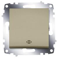Переключатель ABB 619-011400-214 Cosmo перекрестный одноклавишный, 10А, 250В, IP20 (сх.7) (титаниум) выключатель abb 619 011000 200 cosmo одноклавишный 10а 250в ip20 алюминий