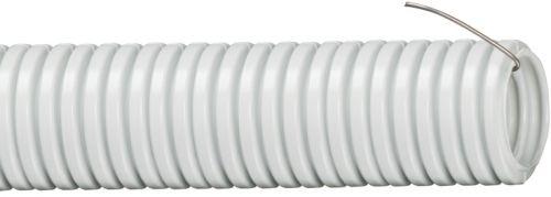 Труба гофрированная IEK CTG20-16-K41-010I ПВХ 16мм с протяжкой серая (10м)